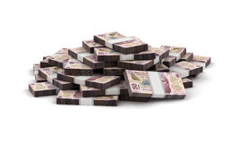 Stack of Mexican Pesos Stock Photography