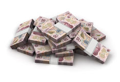 Stack of Mexican Pesos Stock Images