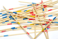 Stack of mikado sticks Stock Images