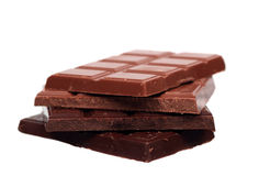 Stack of milk and dark chocolate Royalty Free Stock Photography