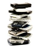 Stack of mobile phones Royalty Free Stock Photo