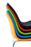 Stack of modern chairs Royalty Free Stock Photo