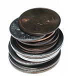 stack monety. Fotografia Royalty Free