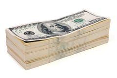 Stack of money. On white isolated background stock photo