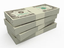 Stack of money. On white background Royalty Free Stock Images
