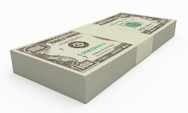 Stack of money. On white background Stock Photography