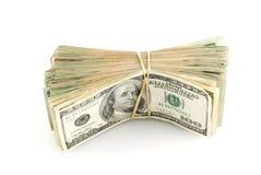 Stack of money. On white background Stock Image