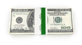 Stack of money american hundred dollar bills isolated on white background 3d. Stack of money american hundred dollar bills isolated on white background stock illustration