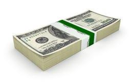 Stack of money american hundred dollar bills isolated on white background 3d. Stack of money american hundred dollar bills isolated on white background vector illustration