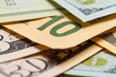Ten Dollar Close Up Stock Image