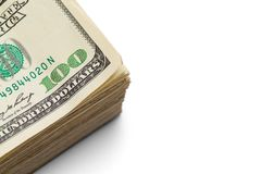 Stack Of Money Close Up Royalty Free Stock Images