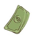 Stack money dollar bills cash sketch Stock Photos