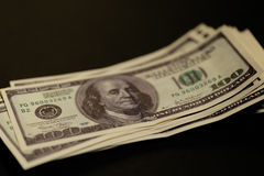 Stack of money growing Royalty Free Stock Image