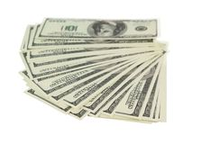 Stack of money isolated Stock Image