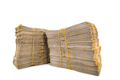 Stack of money. Isolated on the white royalty free stock photography