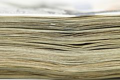 Stack of money. macro Stock Photography