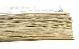 Stack of money. macro Royalty Free Stock Photography