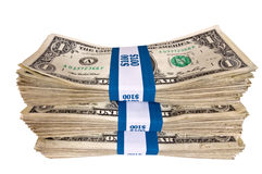 Stack of Money Revised Royalty Free Stock Photo