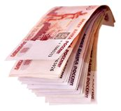 Stack of  money (Russian rouble). Stock Photo