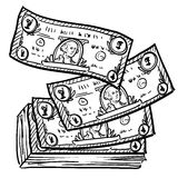 Stack of money sketch Stock Photo