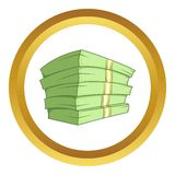 Stack of money vector icon Royalty Free Stock Photography