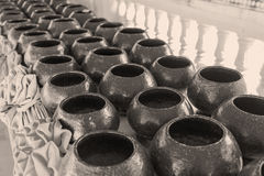 Stack of monk's alms bowl Royalty Free Stock Photography
