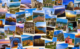 Stack of Montenegro and Bosnia travel images (my photos) Royalty Free Stock Photos