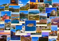 Stack of Montenegro and Bosnia travel images (my photos) Royalty Free Stock Photography