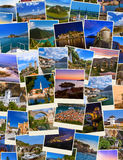 Stack of Montenegro and Bosnia travel images my photos Royalty Free Stock Images