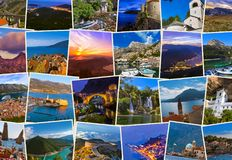Stack of Montenegro travel images my photos. Stack of Montenegro images - nature and travel background my photos Stock Image