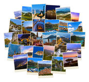 Stack of Montenegro travel images (my photos) Royalty Free Stock Images
