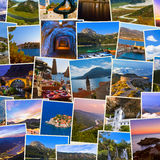 Stack of Montenegro travel images my photos Stock Images