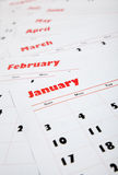Stack of monthly calendars Stock Images