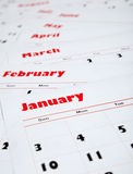 Stack of monthly calendars Royalty Free Stock Photo