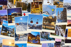 Stack of mountains ski Austria images (my photos) Royalty Free Stock Images