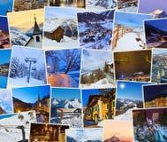 Stack of mountains ski Austria images (my photos) Stock Photo