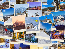Stack of mountains ski Austria images (my photos) Royalty Free Stock Photography