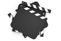 Stack of movie claps Stock Images