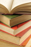 Stack of Multi-colored Old Books Royalty Free Stock Images