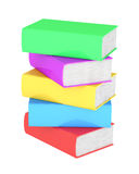 Stack of multicolored books Royalty Free Stock Photos