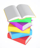 Stack of multicolored books Stock Photo