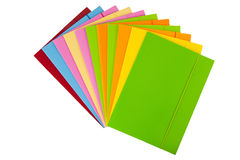 Stack of multicolored folders Stock Photo