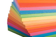Stack of multicolored notes paper Stock Images