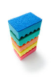 Stack of Multicolored Sponges Royalty Free Stock Image