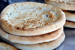 Stack of naan Stock Photography