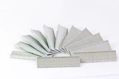 Stack of nails used in a nailgun(nailgun bullet) Stock Photos