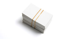 Stack of Name Cards Royalty Free Stock Photos