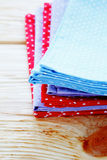 Stack of napkins with polka dots Royalty Free Stock Photo