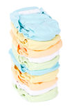 Stack of nappies Royalty Free Stock Photos