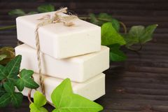 Stack of Natural Ingredients Soap Stock Images